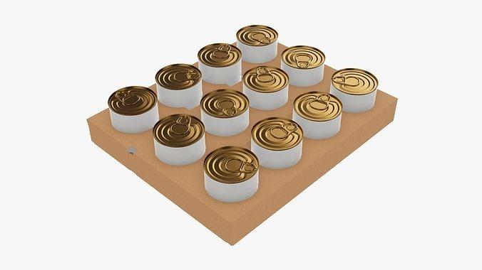 Tin can food shipping tray