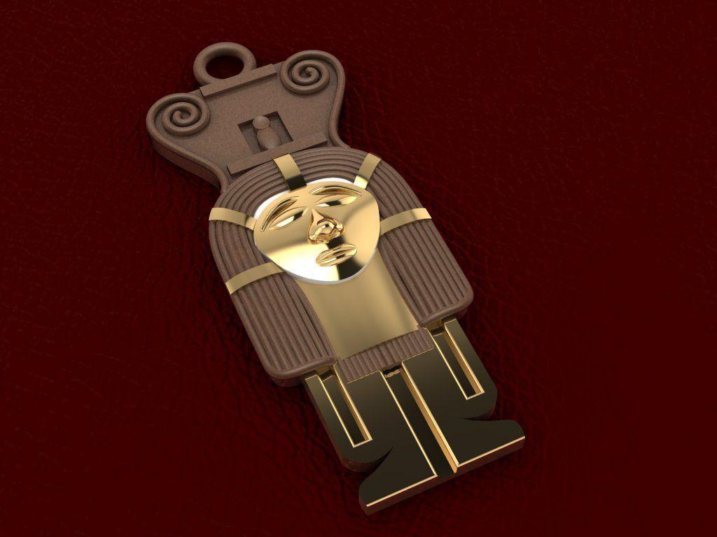Ancient Egyptian Pharaoh Pendant 6