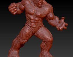 incredible hulk zbrush sculpt 3D Model