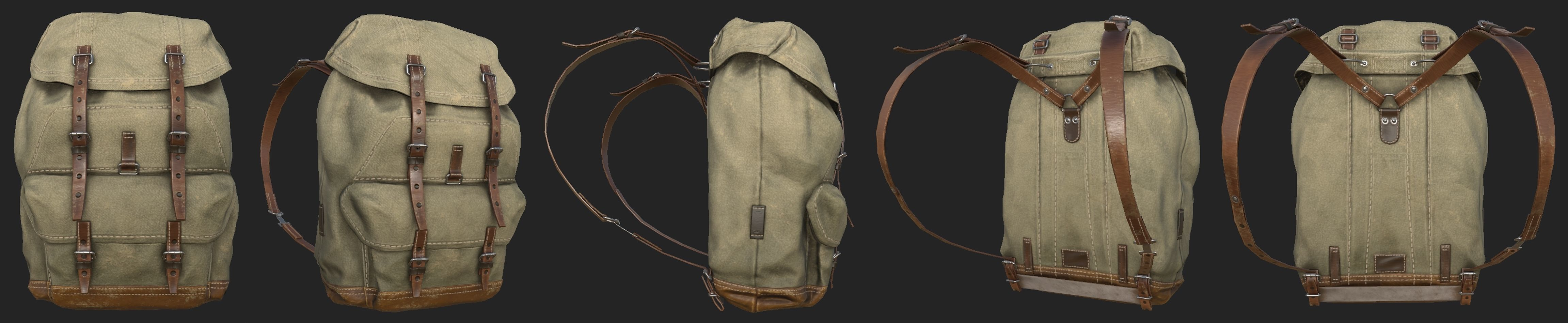 3D RealTime backpack for GAME