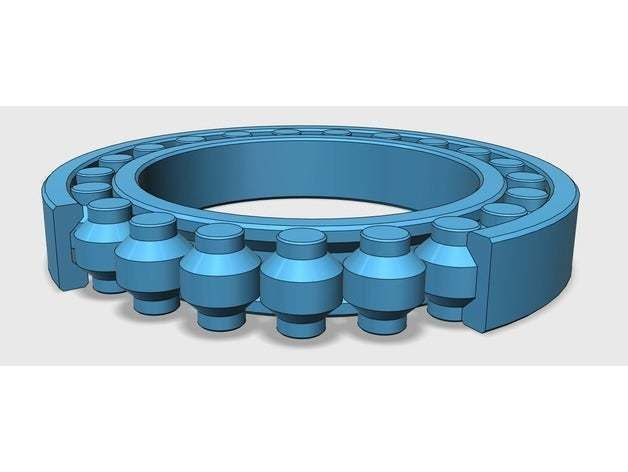 Fully 3D-printable bearing