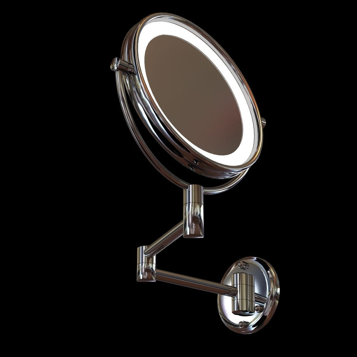 jerdon led lighted wall mounted mirror 3d model. Black Bedroom Furniture Sets. Home Design Ideas