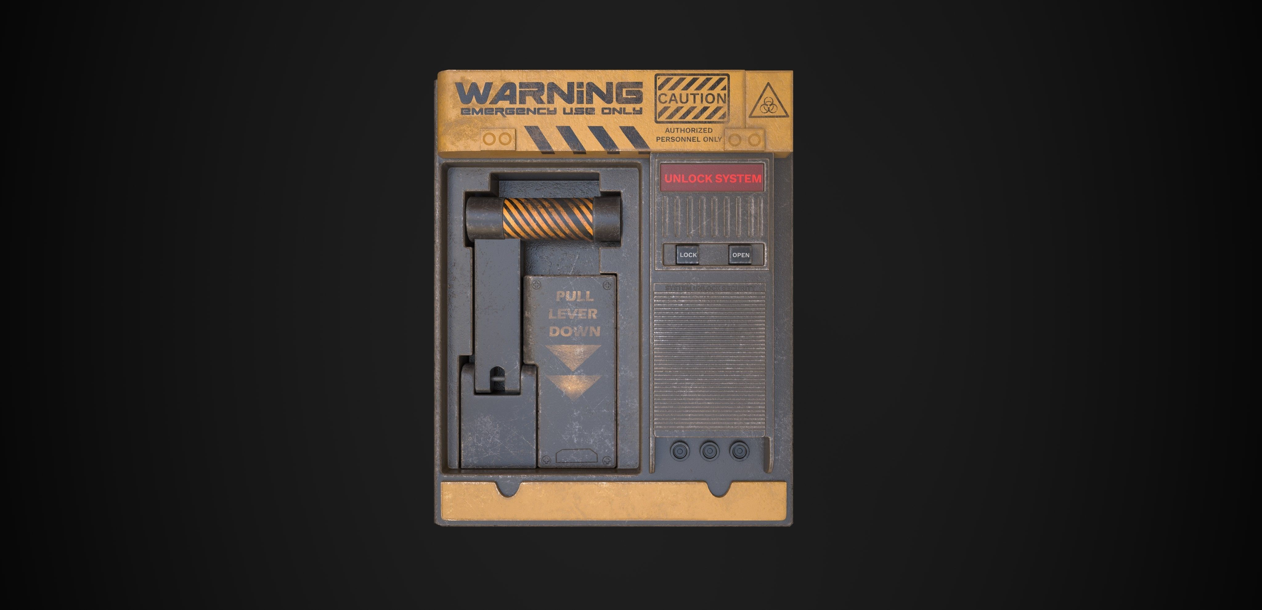 Emergency Airlock Low-poly 3D model