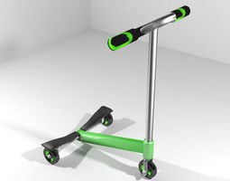 scooter type 3 3d model 3ds blend dae