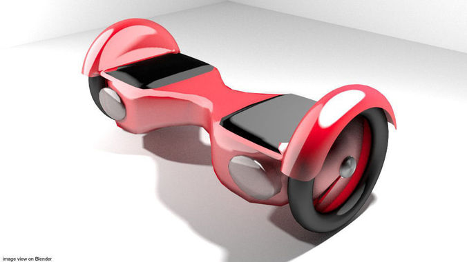 hoverboard - type 1 3d model obj mtl 3ds lwo lw lws blend dae 1