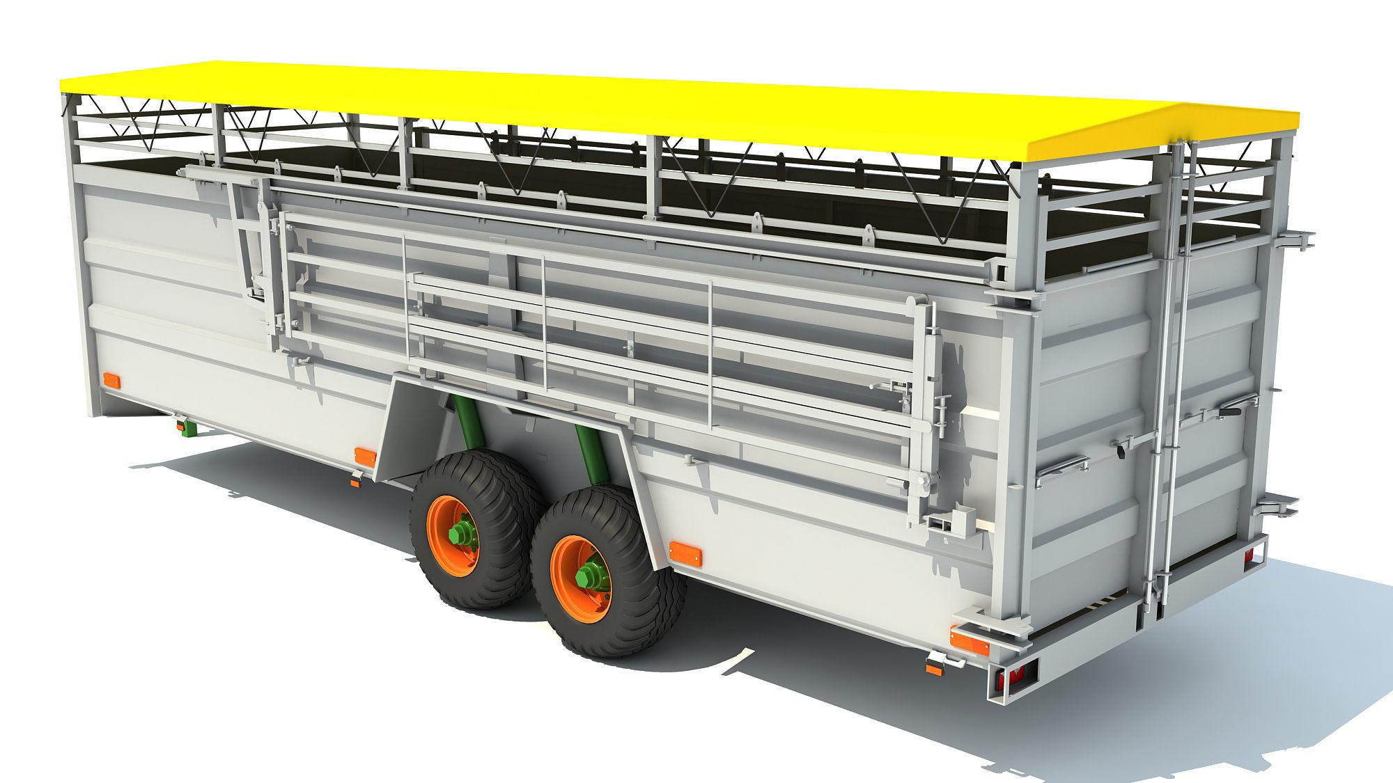Cattle Animal Transporter Trailer