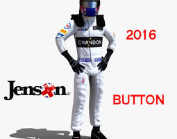 realtime rigged jenson button 2016 3d asset