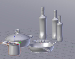 Metal Kitchenware 3D model