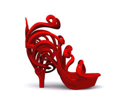 3D print model Art Nouveau Shoe