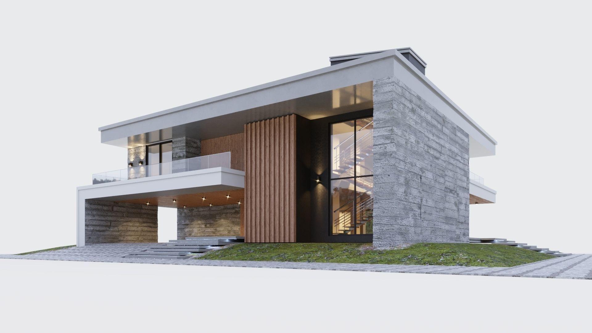 Modern two storey villa