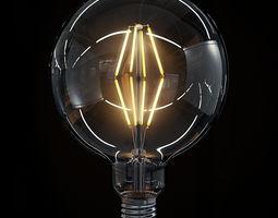 LED Filament Bulb 09 3D Model