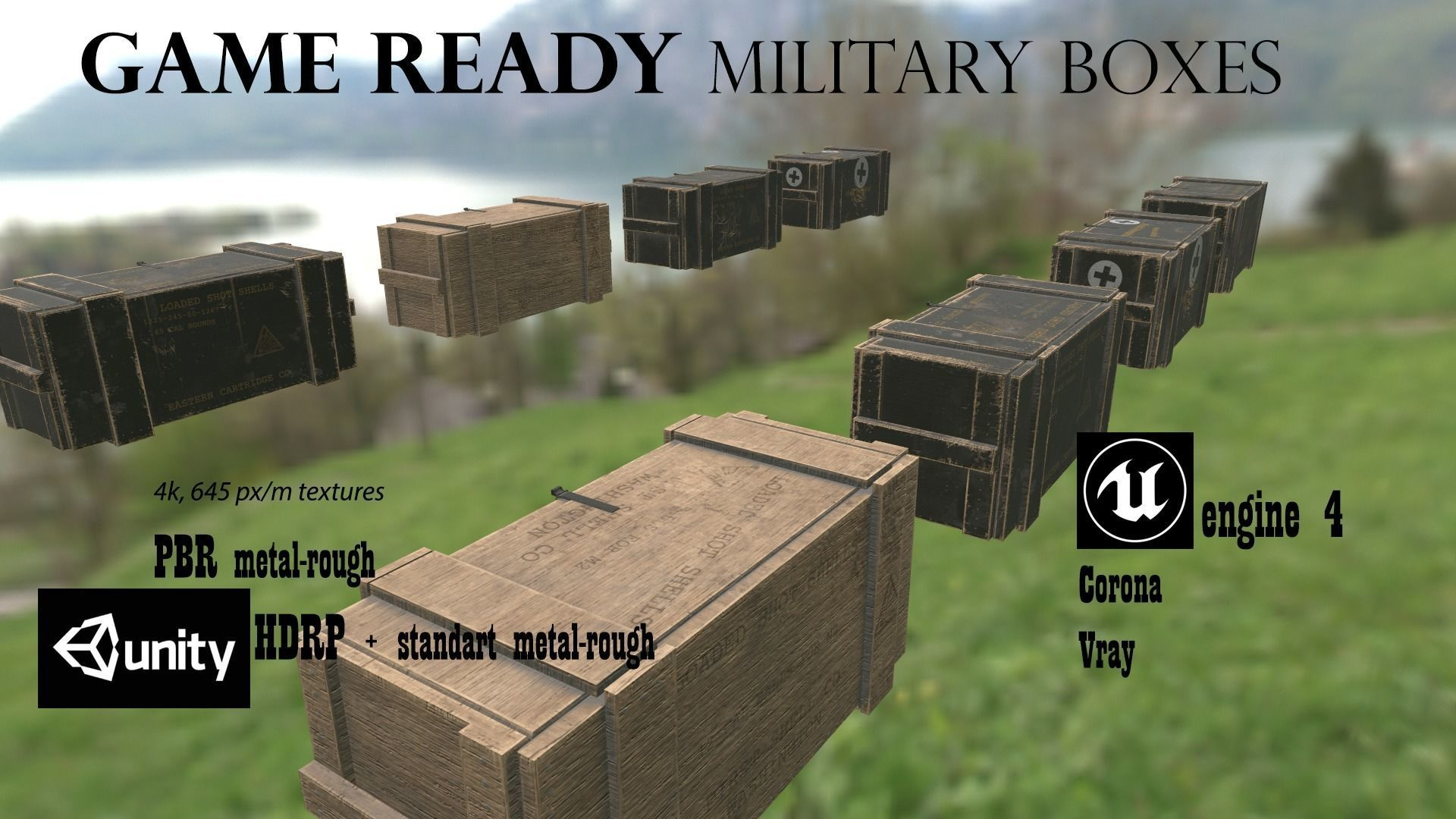 Military supply boxes Ammo boxes