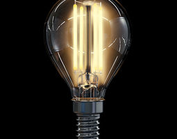 LED Filament Bulb 10 3D Model