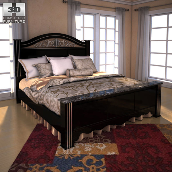 ... Ashley Constellations Poster Bedroom Set 3d Model Max Obj 3ds Fbx C4d  Lwo Lw Lws 3 ...