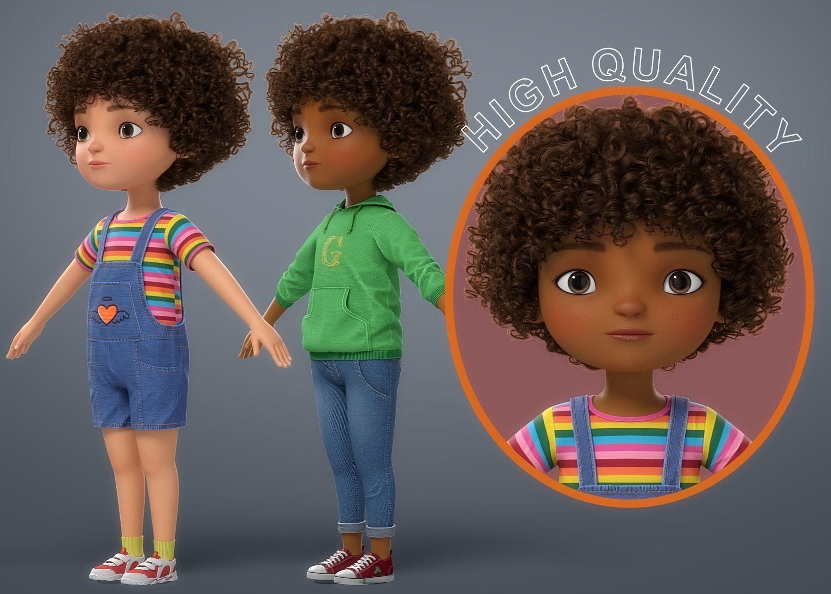 Cartoon Black Girl