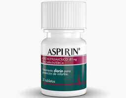 aspirin bottle 3d