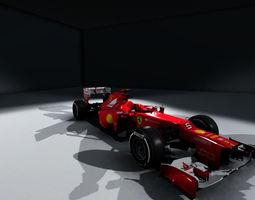 formula 1 ferrari f2012 3d model realtime