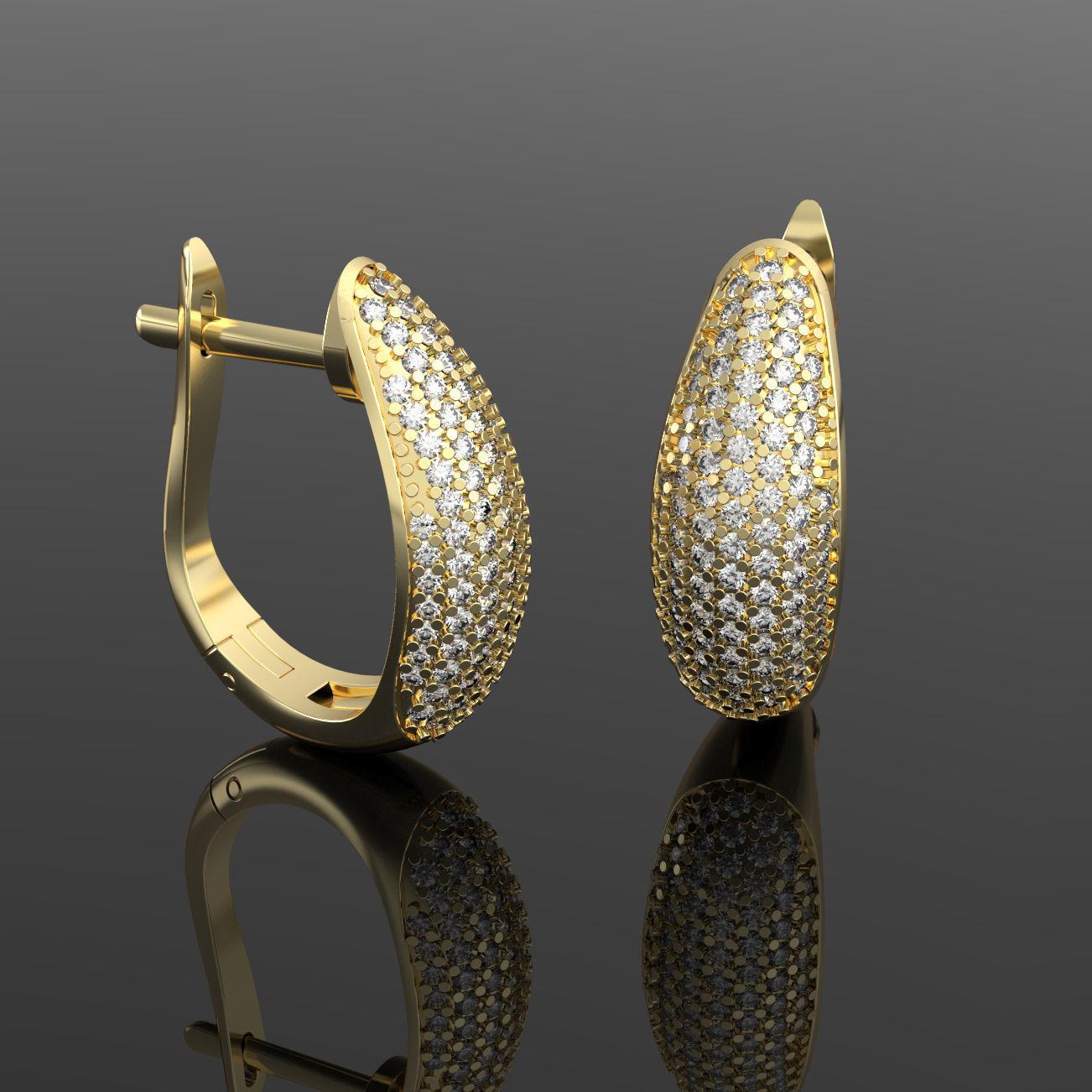 Luxury earring with diamonds