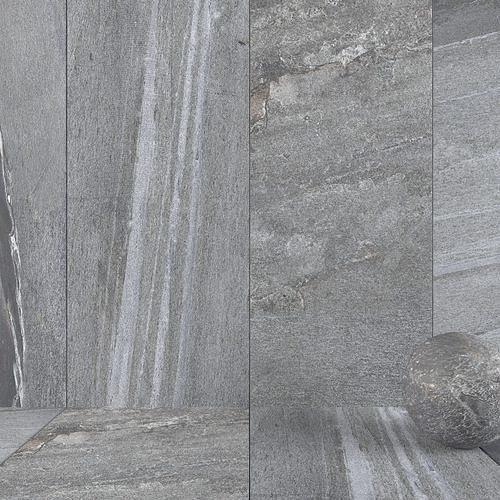 Stone Wall Tiles Santorini Grey 120x270 Set 4