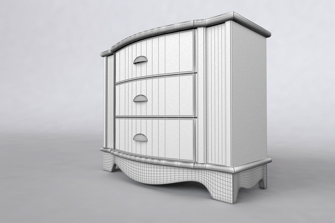 Cabinet Country Style 3D Model .max .obj .3ds .fbx .dwg