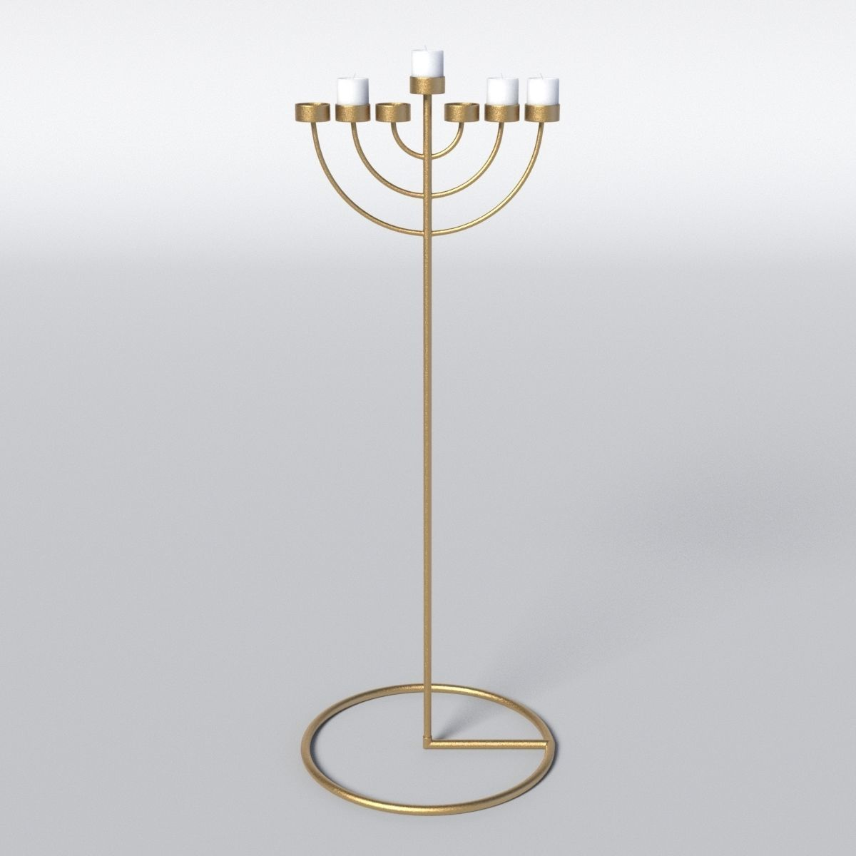 Copper Menorah 7 Candles