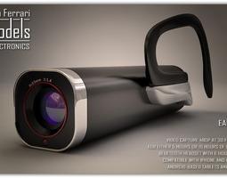 ear video camera 3d model max obj 3ds