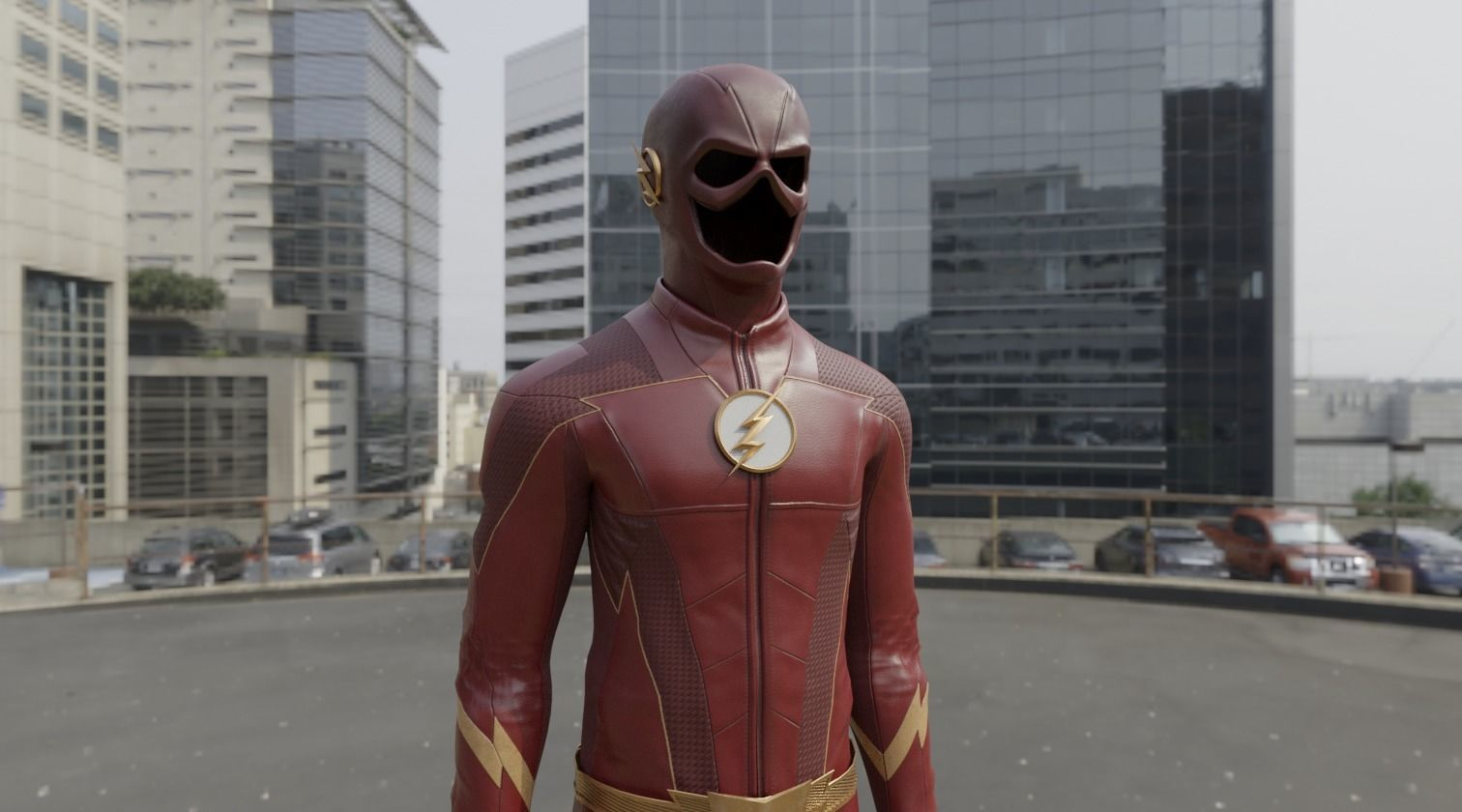 CWs The Flash Season 4 Suit 3D Model