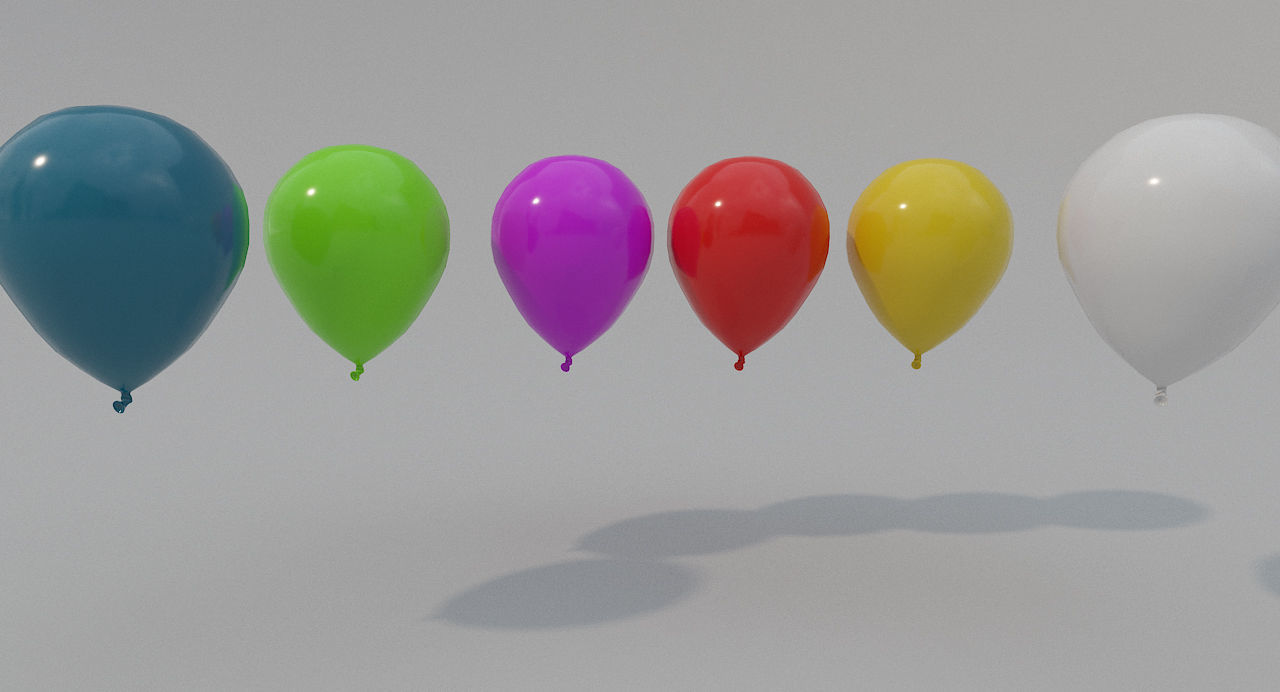 Low-poly Balloon