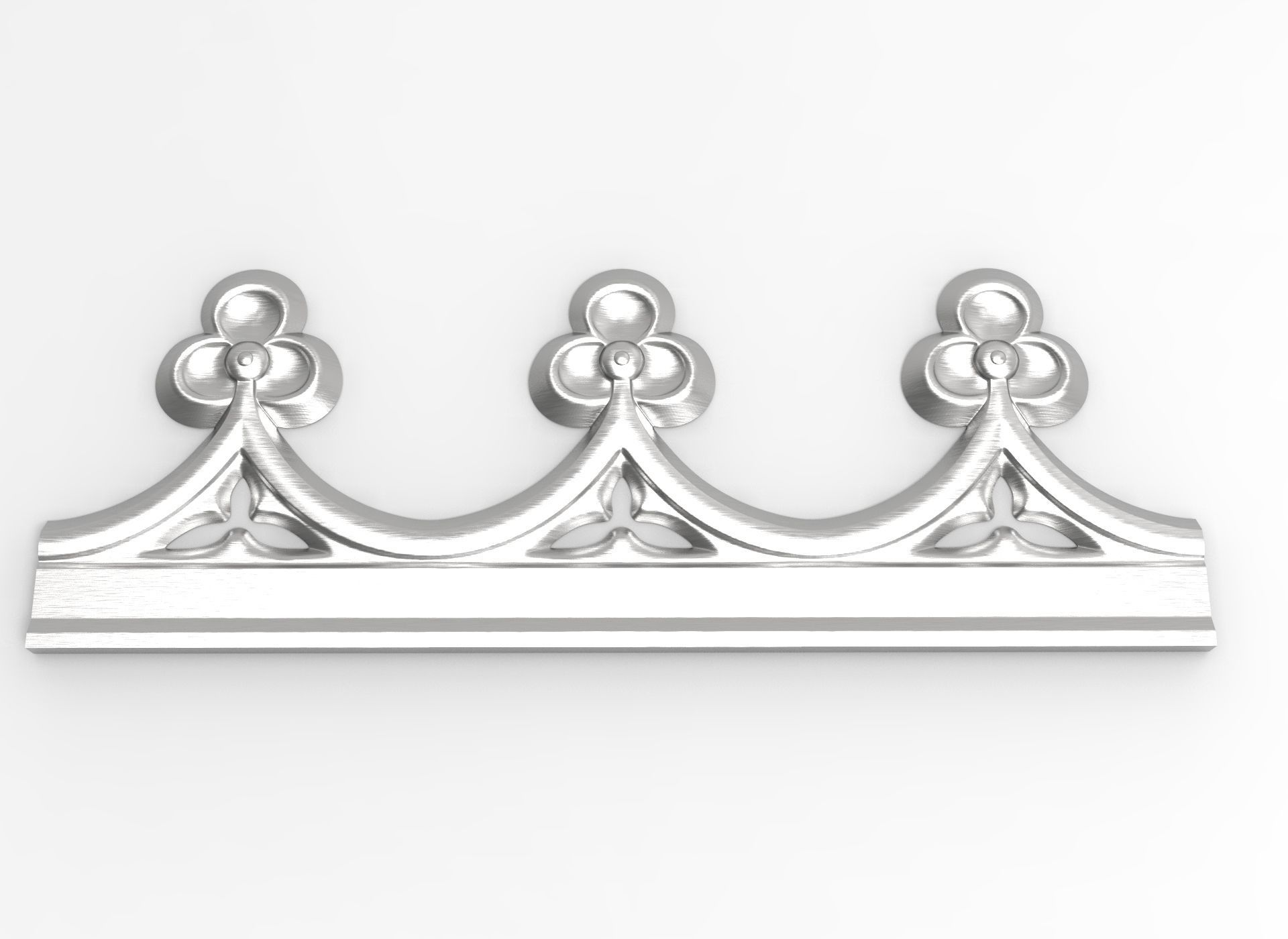 Decorated friezes with trefoil for CNC on printer HD model