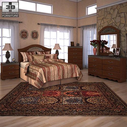 3D model Ashley Fairbrooks Estate Panel Bedroom Set VR ...
