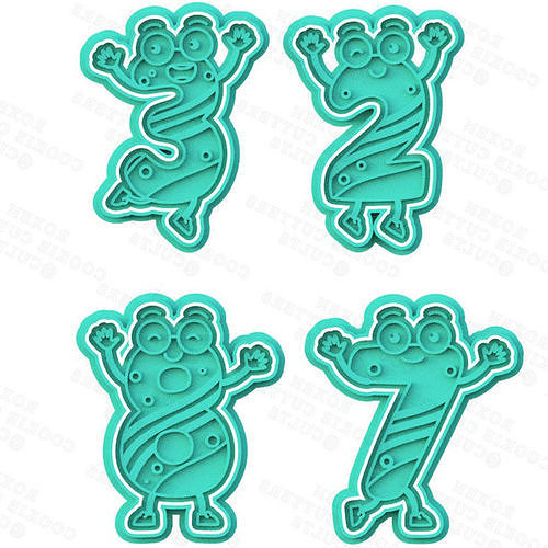Cute funny numbers cookie cutter set of 10