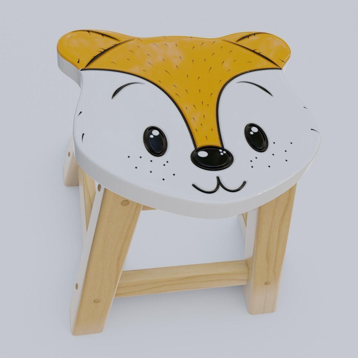 Child Step Stool Fox