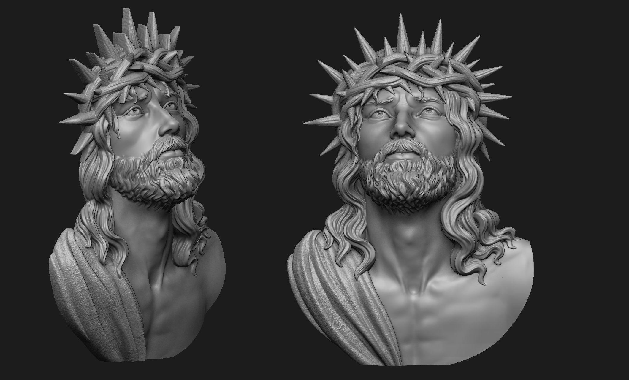 Jesus Head Pendant 3