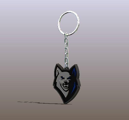 Cool Fox Keychain