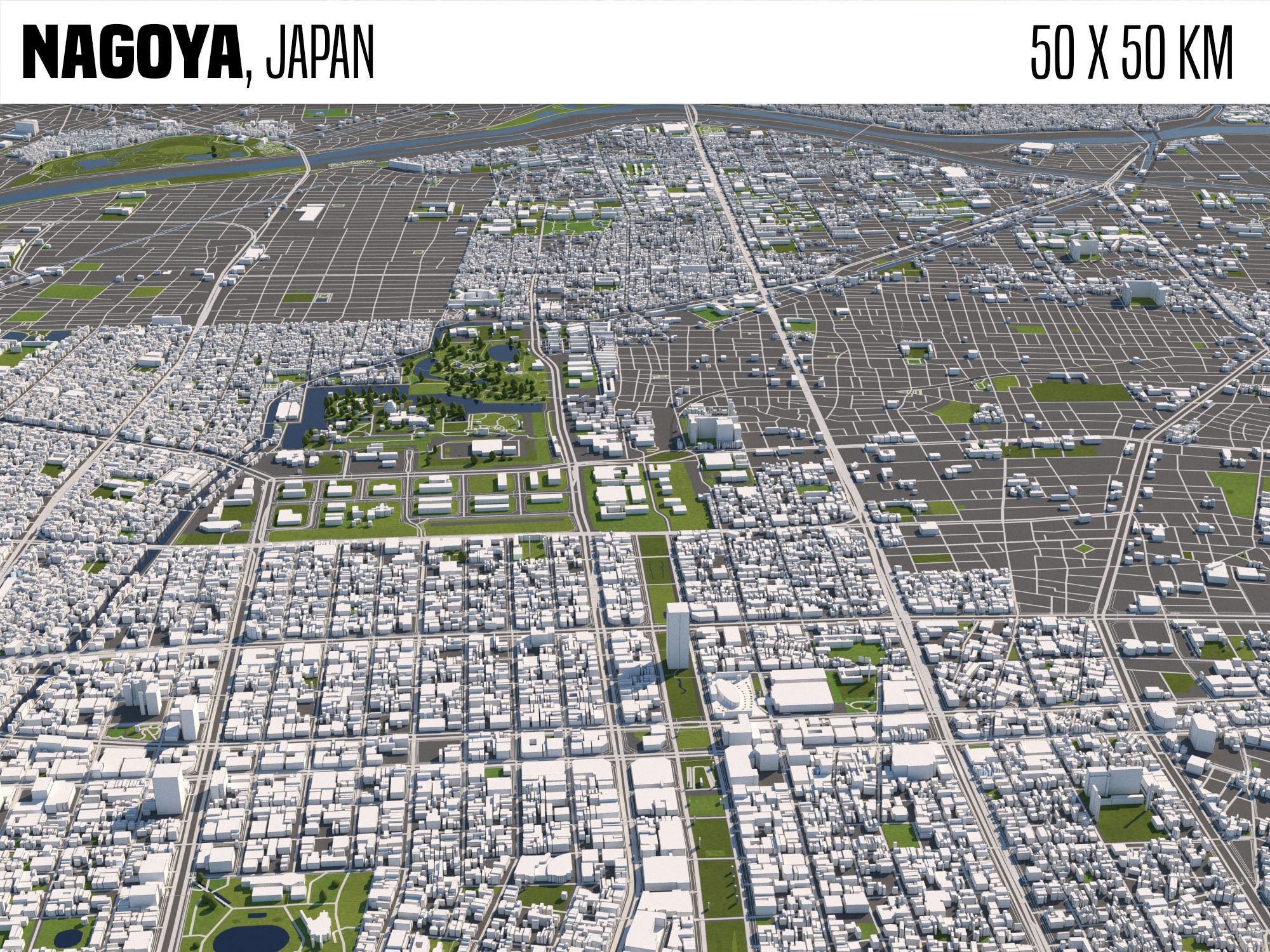 Nagoya Japan 50x50km