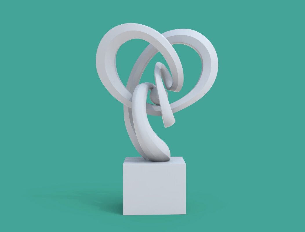 Infinity - Mobius - Abstract Art Sculpture - Heart