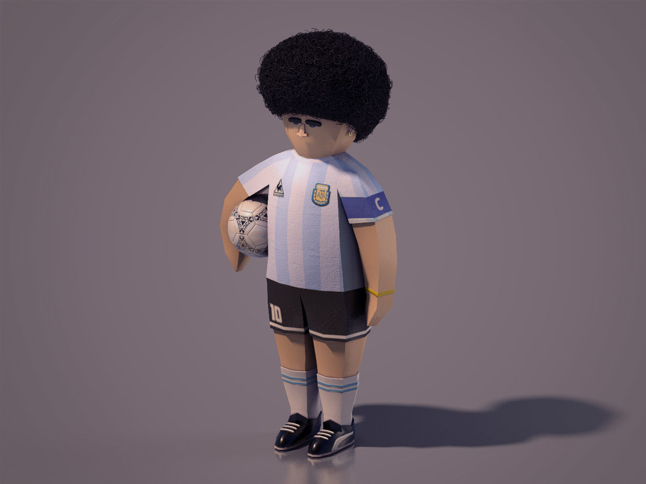 Diego Armando Maradona - Lowpoly