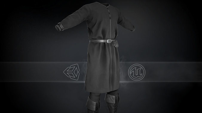 Full Black Medieval Outfit