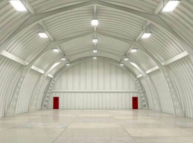 Hangar Interior Scene3D model