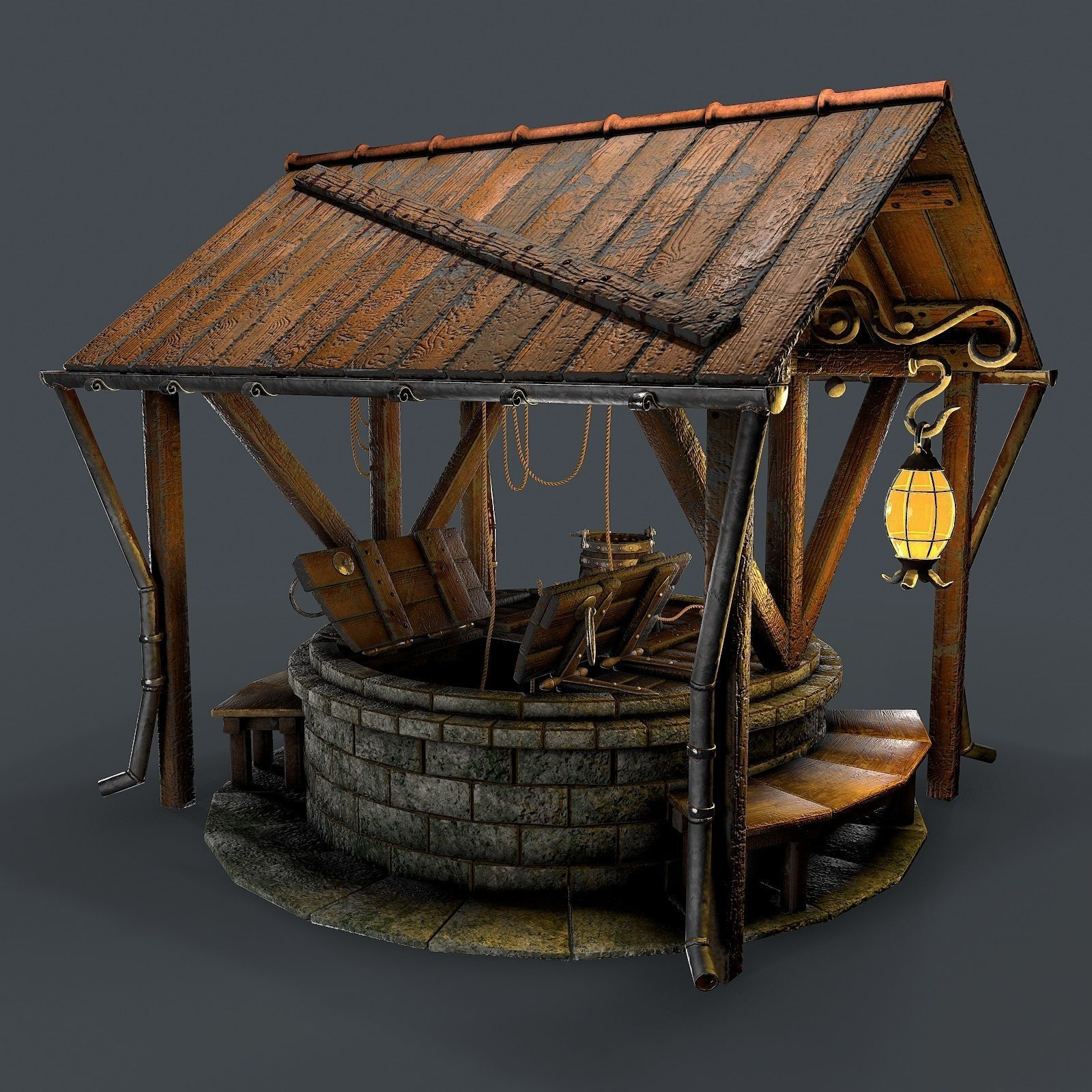 Stone well 3d model