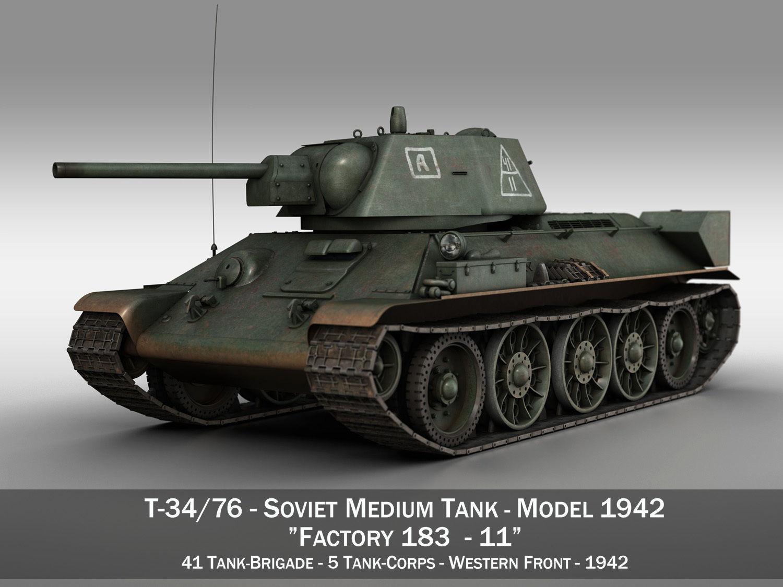 T-34-76 - Model 1942 - Soviet medium tank - 11