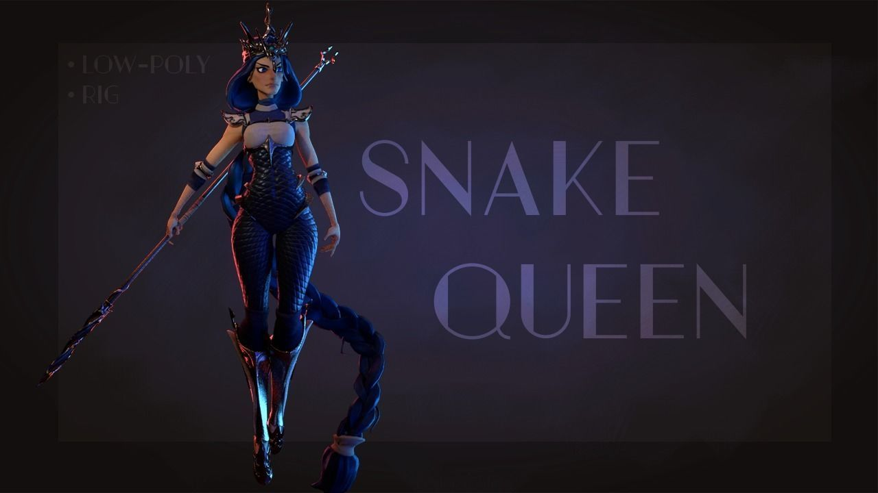 Snake Queen Stylized character