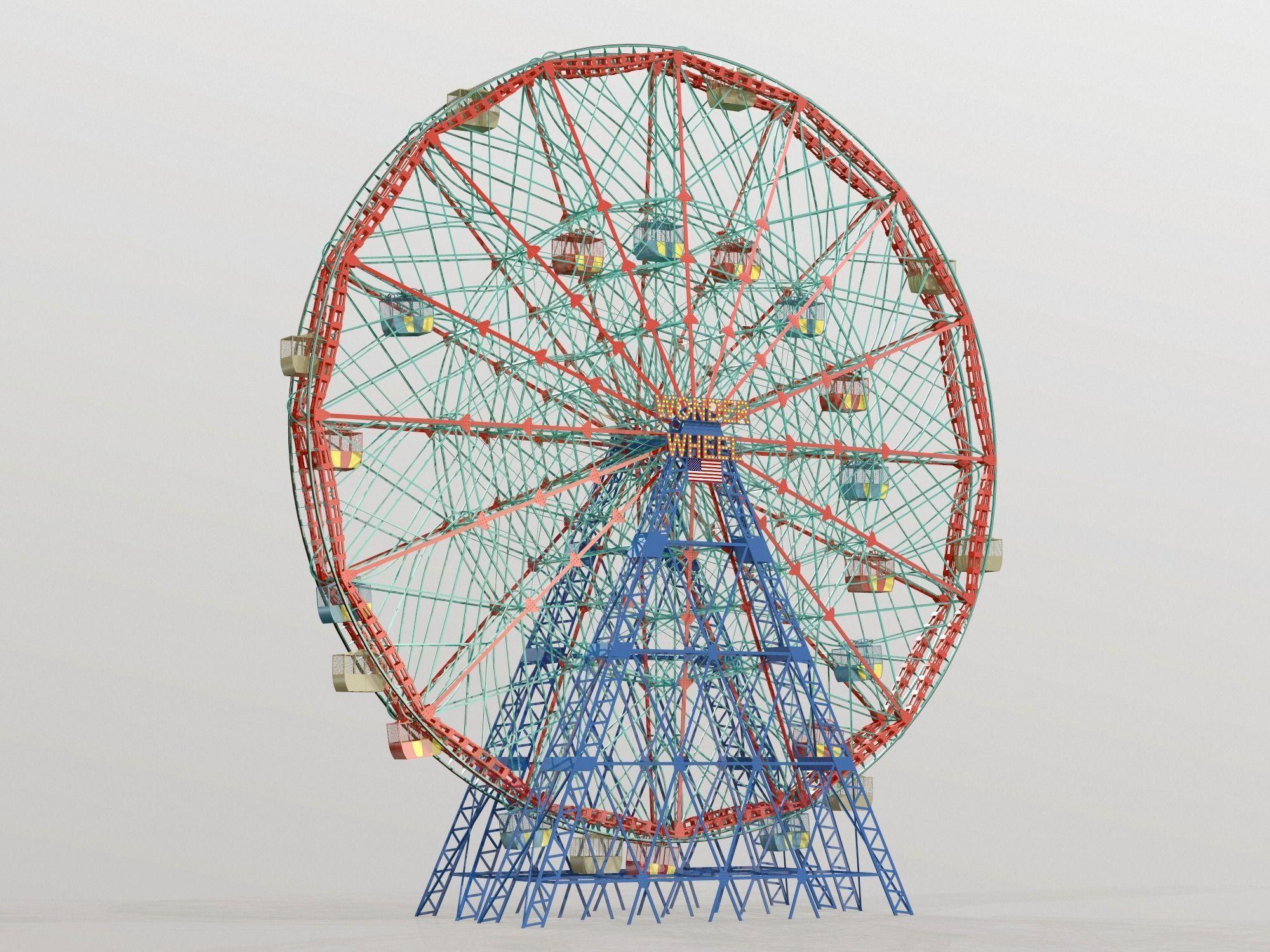 Denos Wonder Wheel Coney Island Carousel