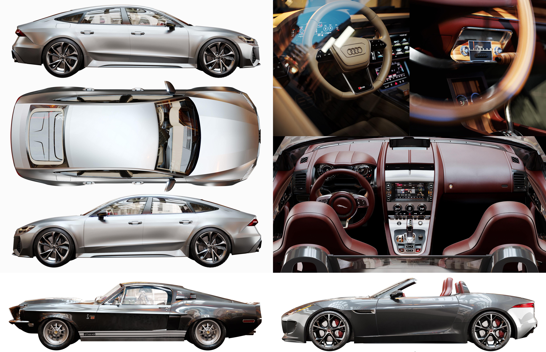3 High quality Car Model  Interior -Exterior
