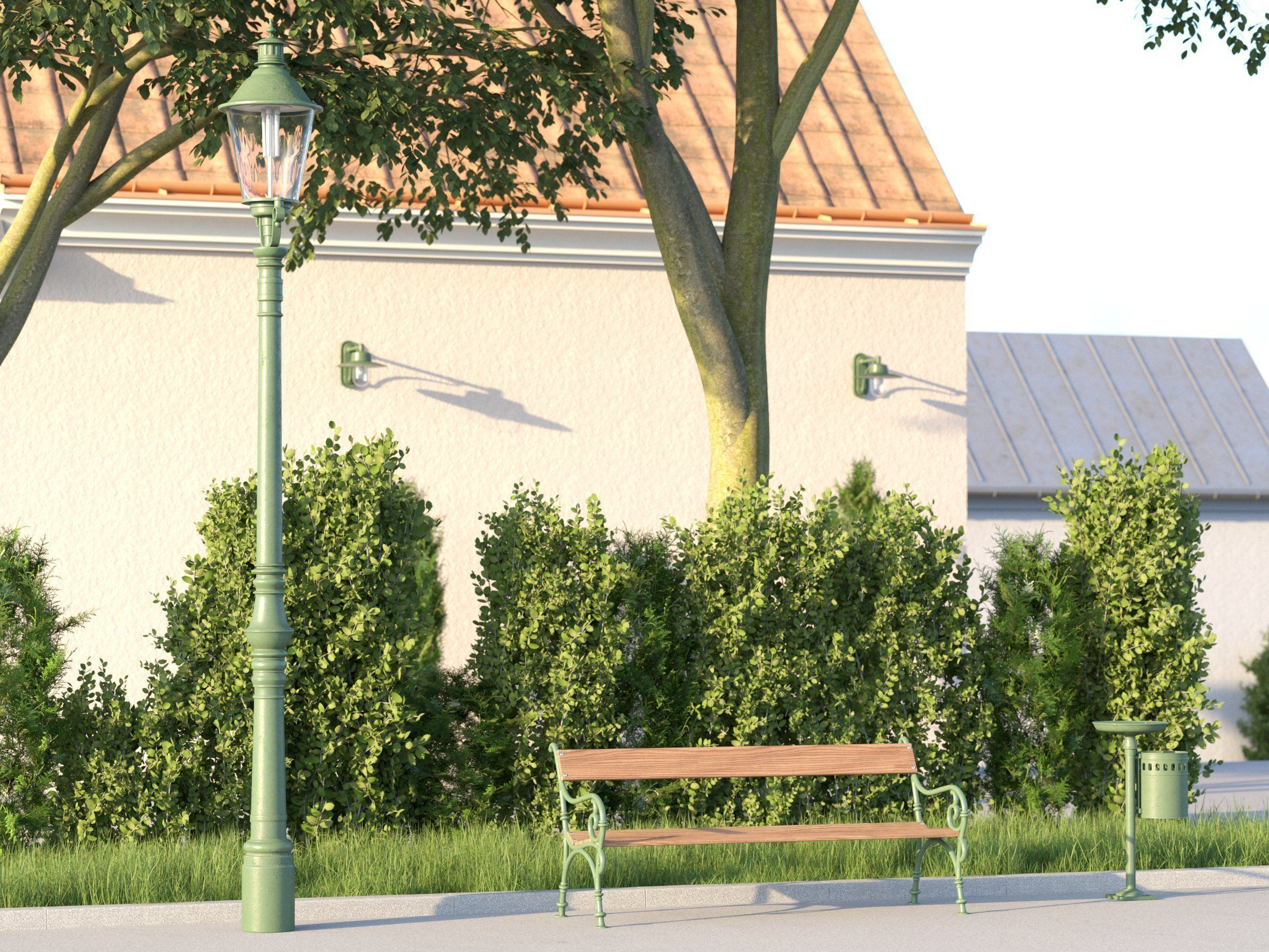 vienna public park furniture set