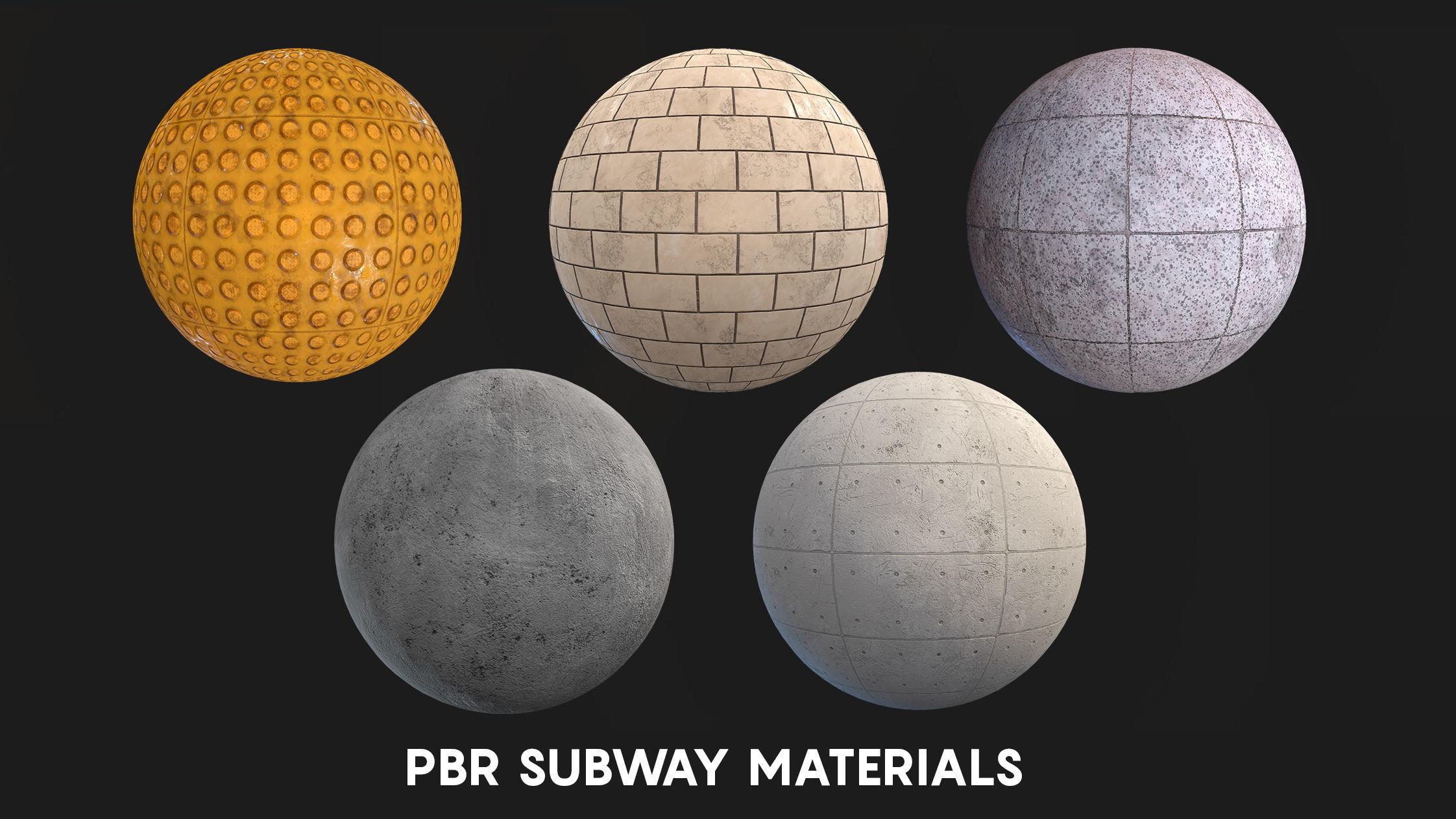 PBR Subway Materials