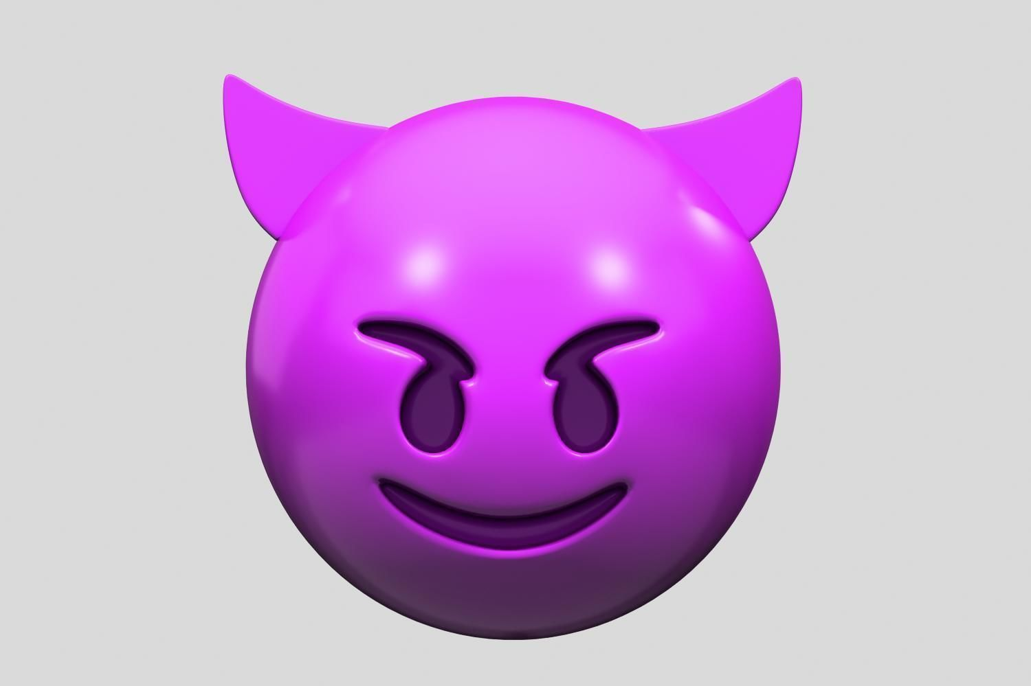 Emoji Smiling Face with Horns