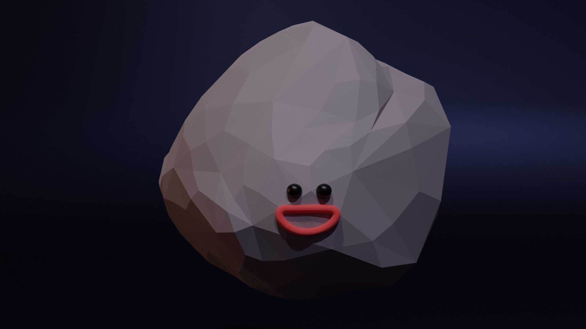 Happy Astroid - Funny Cartoon Style Lowpoly