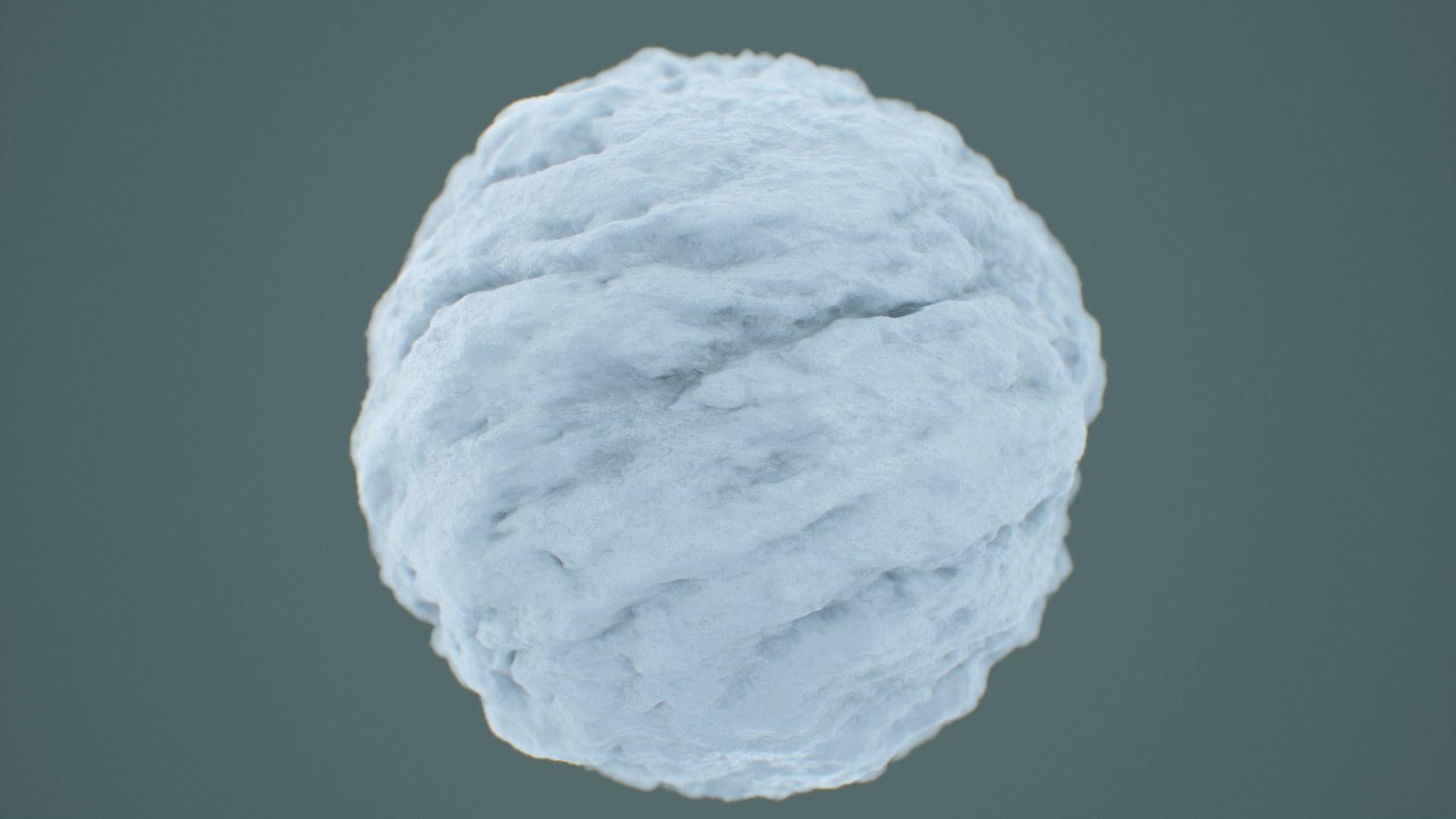 Snow PBR Texture 4K