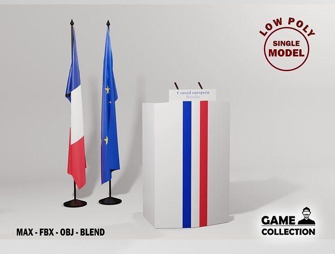 France Presidential podium